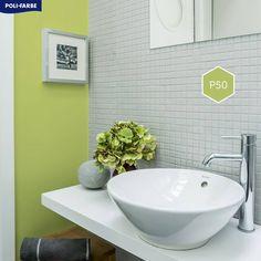 Zbožňujeme farby prírody! 🌳🌿🍃💚 #priroda #kupelna #zelena #farba #svieza #byvanie #krasnebyvanie #domov #trendy #painting #wallpainting #bathroom Trendy, Sink, Bathtub, Bathroom, Painting, Home Decor, Sink Tops, Standing Bath, Washroom