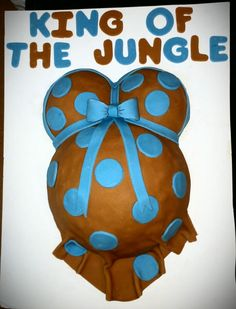 Belly cake for a lion king baby shower