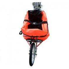 Remolque de Aosom Solo una sola rueda para bicicleta de carga