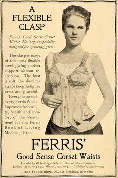1900 Ad Ferris Corset Waist Clothing Fashion No 317 - ORIGINAL ADVERTISING LHJ4 in | eBay