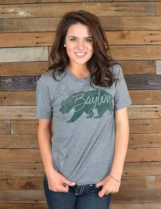 Baylor Bears Roam tee, gray // #SicEm, Bears!