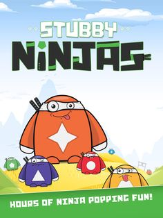 Stubby Ninjas -  The game is super easy to play, simply tap groups of two or more Stubby Ninjas of the same color to remove them, clear the board to advance to the next level!