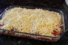 "Low carb ""egg noodle""  bbq chicken lasagna"