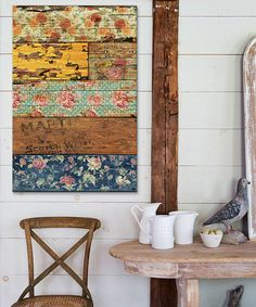 Could use with paint and deccopage on barn wood. This Barroco Style Canvas is perfect! #zulilyfinds