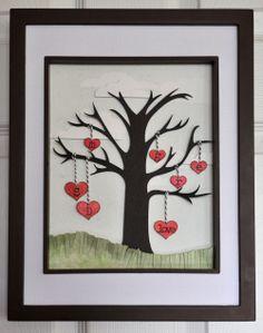 family tree - Rae Lynn O'Keefe design executed by Sara Case Strickland