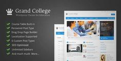 Download and review of Grand College - Wordpress Theme For Education, one of the best Themeforest Education themes