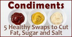 With so many sugars and ingredients, a poorly chosen condiment can elevate a reasonably healthy meal to an unhealthy status in just a few dollops.  Check out these alternatives to keep your meals on track!