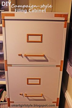 smartgirlstyle: Campaign-style Filing Cabinet