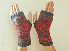 Ravelry: A Giving Heart Fingerless Mitts pattern by Kessa Tay Anlin