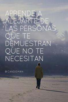 Aprende a alejarte de las personas que te demuestran que no te necesitan