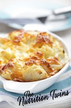 Cauliflower Gratin | Irresistible! Lightened up & Protein-packed | ONLY 162 calories & 13 g protein! | For MORE RECIPES like this, SIGN UP for OUR NEWSLETTER on NutritionTwins.com