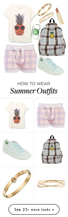 """Sweet Tumblr Summer#1 Outfit"" by agos-dno75 on Polyvore featuring Honeydew Intimates, Puma, Issey Miyake, Nadri, Hermès and Axiology"