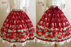 """Flowery Strawberry Skirt by FigliaXHANAKO 