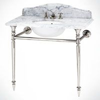 Hepburn single and double basin stands with chrome, back to wall stands and bespoke marble tops. Marble Top, Basin, Chrome, Luxury Bathrooms, Salad, Home Decor, Interior Design, Home Interior Design, Salads
