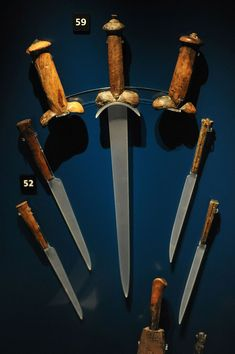 Knife handles recovered from the wreck of the Tudor warship Mary Rose