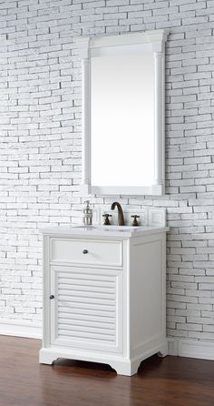 Web Image Gallery Abstron inch White Finish Single Sink Traditional Bathroom Vanity Optional Countertop