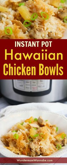 These Instant Pot Hawaiian Chicken Bowls are one of the most-requested dinners by my kids. They're so easy to make too!
