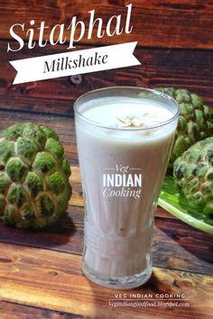 How to make Sitaphal Milkshake Fruit Milkshake, Coconut Milkshake, Healthy Milkshake, Milkshake Recipes, Healthy Juices, Healthy Smoothies, Teatime Snacks, Kulfi Recipe