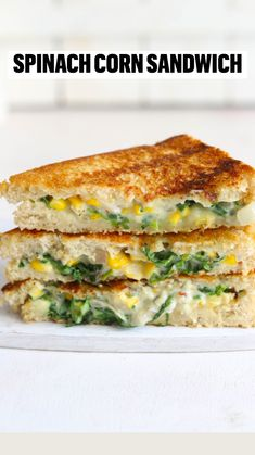 Corn Sandwich, Grilled Sandwich Recipe, Sandwich Recipes, Brunch Recipes, Breakfast Recipes, Snack Recipes, Cooking Recipes, Savoury Recipes, Dinner Recipes