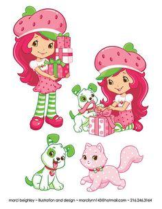 Strawberry's gifts Strawberry Shortcake Pictures, Strawberry Shortcake Coloring Pages, Baby Girl Clipart, Strawberry Shortcake Birthday, Snoopy Images, Princess Coloring Pages, Baby Party, Craft Fairs, Baby Boy Shower