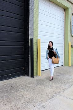 Graphic Tee + White Jeans || Beautifully Elegant Blog