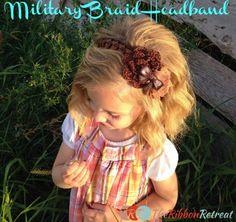 Military Braid Headband - The Ribbon Retreat Blog