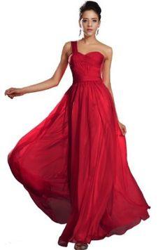 eDressit New One Shoulder Red Evening Dress Prom Ball Gown (00132402),£114.99 http://pinterest.com/nfordzho/party-queen/