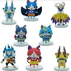 Amazon.com: 8pcs 6cm Yokai Watch Yo-kai Figures Toys Cake Toppers play set Jibanyan Kyuubi Whisper: Toys & Games
