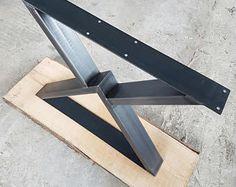 Legs industrial design 73-80 cm steel 1 pair X Clearcoat metal table base