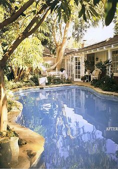 """love this pool color from Rachel Ashwell's """"The Shabby Chic Home"""" book on her redecorating her home"""