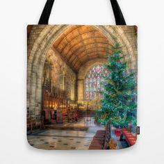 Christmas Tree  Tote Bag by Adrian Evans - $22.00