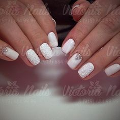 White on white with a little silver sparkle to liven things up