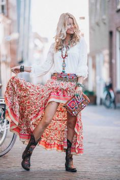 Bohemian Ibiza skirt that you just need to have this summer!
