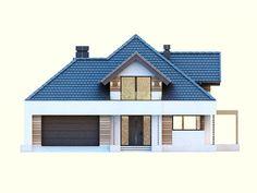 DOM.PL™ - Projekt domu DM Opałek X 2G CE - DOM GM3-32 - gotowy koszt budowy House Styles, Audi S5, Minecraft Pe, Shelves, Home Decor, Design, Houses, Modern, Opal