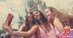 #momentoEnjoy15 es tu #selfie con #amigas en el #castillo de #magicKingdom  Viví Disney con #enjoy15  #orlando #disney #quinceañeras #disneygram #viajes #waltDisneyWorld #amigas