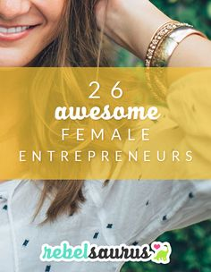 Getting inspired regularly is an important way to keep your motivation high as an entrepreneur. This video shows 26 awesome female entrepreneurs, some famous and historical and others new and on the rise. You can use this as a launching point for finding some interesting female entrepreneur role models and maybe diving deeper into one of their biographies or lives to inspire your own business journey.