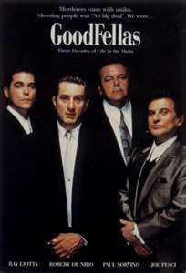 Titles: Goodfellas Names: Robert De Niro, Ray Liotta, Joe Pesci, Paul Sorvino Martin Scorsese, Mafia, Goodfellas 1990, Trailers, Basket Nba, Ray Liotta, Gangster Movies, Posters, Robert De Niro