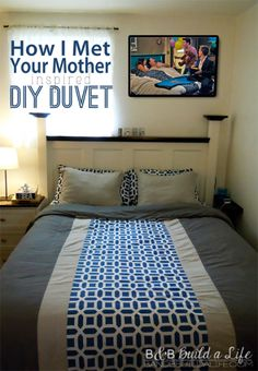 Pinworthy How I Met Your Mother inspired DIY Duvet @ BandBBuildALife.com