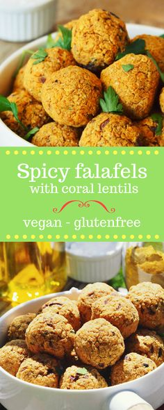 Spicy FALAFELS with coral lentils - vegan & glutenfree