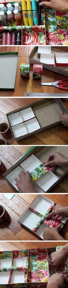 Cardboard + Tape   Sneaky Storage Ideas for Teen Girls Room