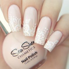 """Beautiful and so very very pretty! Lacey nude nails by @liliumzz inspired by @nailsbycambria. Using """"Pink Champagne"""".  Available online: www.seasiren.com.au.  Sea siren also available in the USA at happybunnycosmetics.com.  #seasirencosmetics #nailpolish #pinknails #nudenails"""