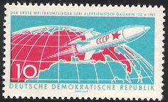 Yuri Gagarin Stamp East Germany