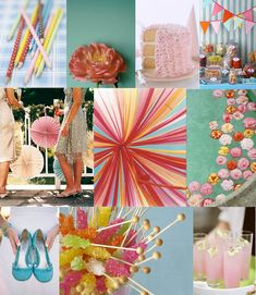 playful and bright wedding colors
