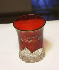 Ruby Flashed Souvenir Cup Ft. Collins Colorado