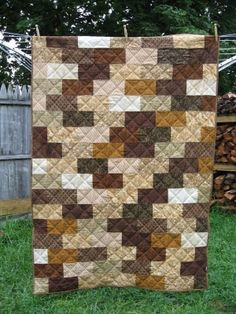 Brick Wall Quilt- Free #Quilt Pattern