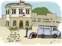 Élections Municipales 2014 Châteauneuf/Isère Dessin d'Humour