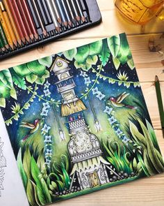 "449 Likes, 36 Comments - Irena (@black_aneri) on Instagram: ""Book: #magicaljungle by #johannabasford  Mixed media: mostly #kohinoorhardtmuth #mondeluz72…"""
