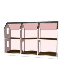 Doll House Plans for American Girl or 18 inch dolls - 6 Room Horizontal - NOT ACTUAL HOUSE on Etsy, $9.95