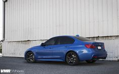 Estoril Blue Metallic BMW M-Sport F30 335i With VMR Wheels