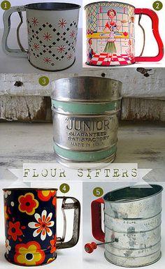 vintage flour sifters | Flickr